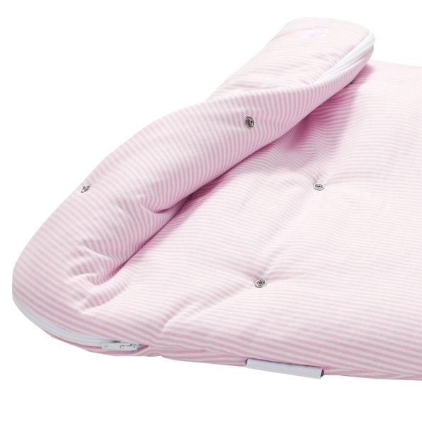Babyschlafsack rosa gestreift