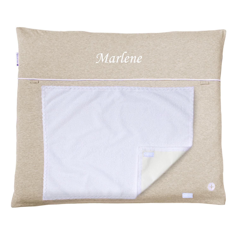 wickelauflage beige mit abnehmbarem stoff bezug und frottee handtuch. Black Bedroom Furniture Sets. Home Design Ideas