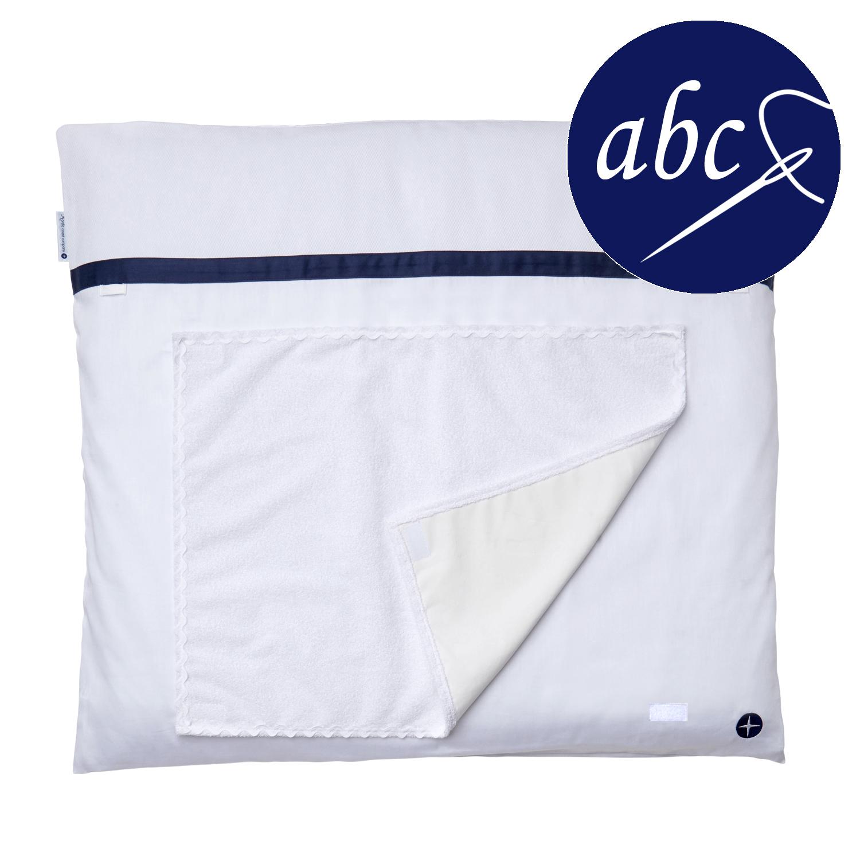 wickelauflage weiss blau mit abnehmbarem bezug und frottee handtuch. Black Bedroom Furniture Sets. Home Design Ideas