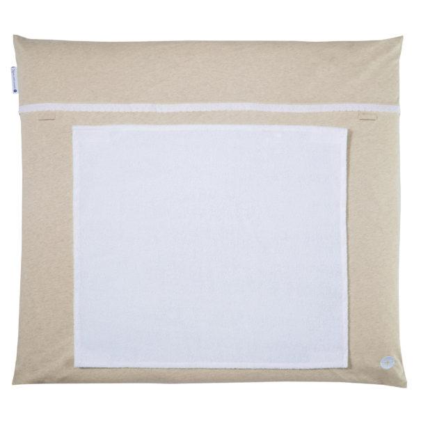 Wickelauflage beige creme braun mit handtuch