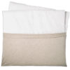 Wickelauflage beige creme mit handtuch abnehmbar