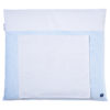 Wickelauflage blau gestreift mit handtuch abnehmbar