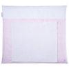 Wickelauflage rosa gestreift mit handtuch abnehmbar