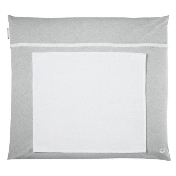 Wickelauflage grau Spitze handtuch