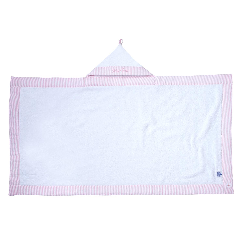 kapuzenhandtuch rosa wei aus hochwertigem dicken frottee. Black Bedroom Furniture Sets. Home Design Ideas