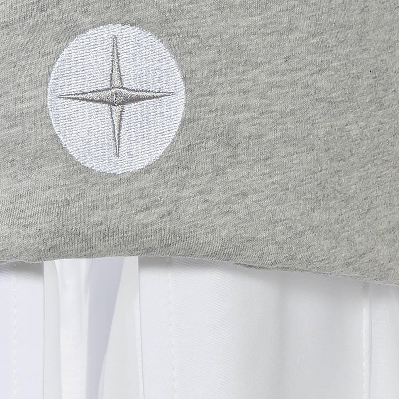 Baby Betthimmel Grau Aus Luftdurchlassiger Baumwolle