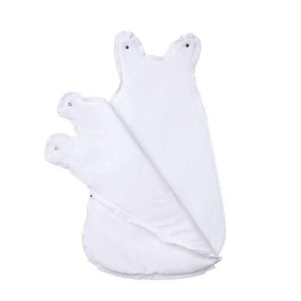 ganzjahres baby schlafsack weiss spitze f r neugeborene in. Black Bedroom Furniture Sets. Home Design Ideas