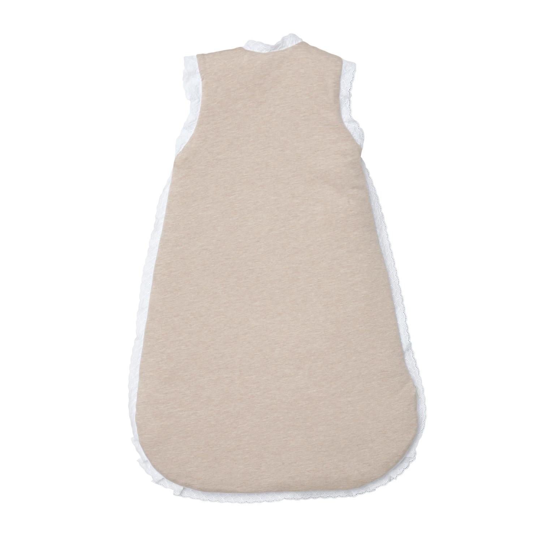 baby schlafsack beige spitze aus reiner baumwolle f r neugeborene. Black Bedroom Furniture Sets. Home Design Ideas