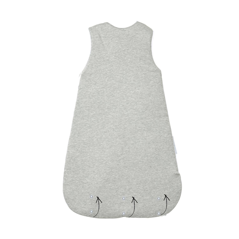 baby schlafsack grau aus reiner baumwolle ganzjahres schlafsack. Black Bedroom Furniture Sets. Home Design Ideas