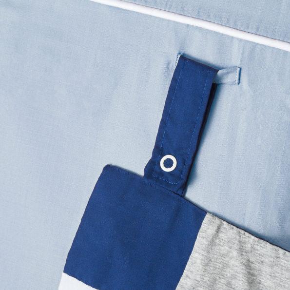 Wickelauflage Blau Grau Voile