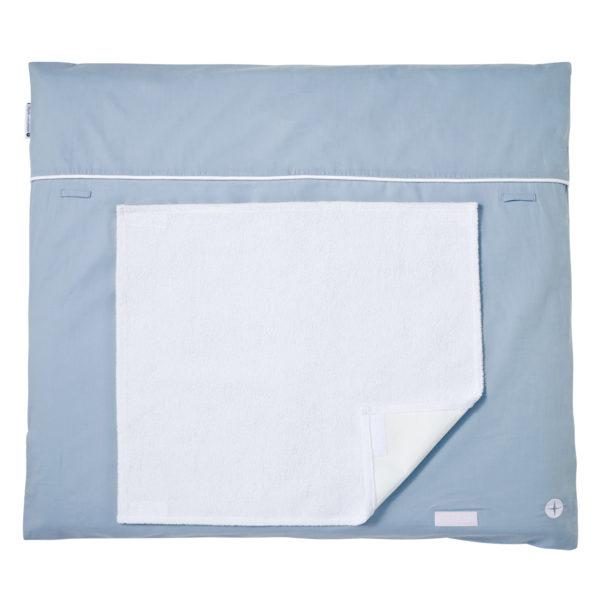 Wickelauflage Blau Grau Handtuch